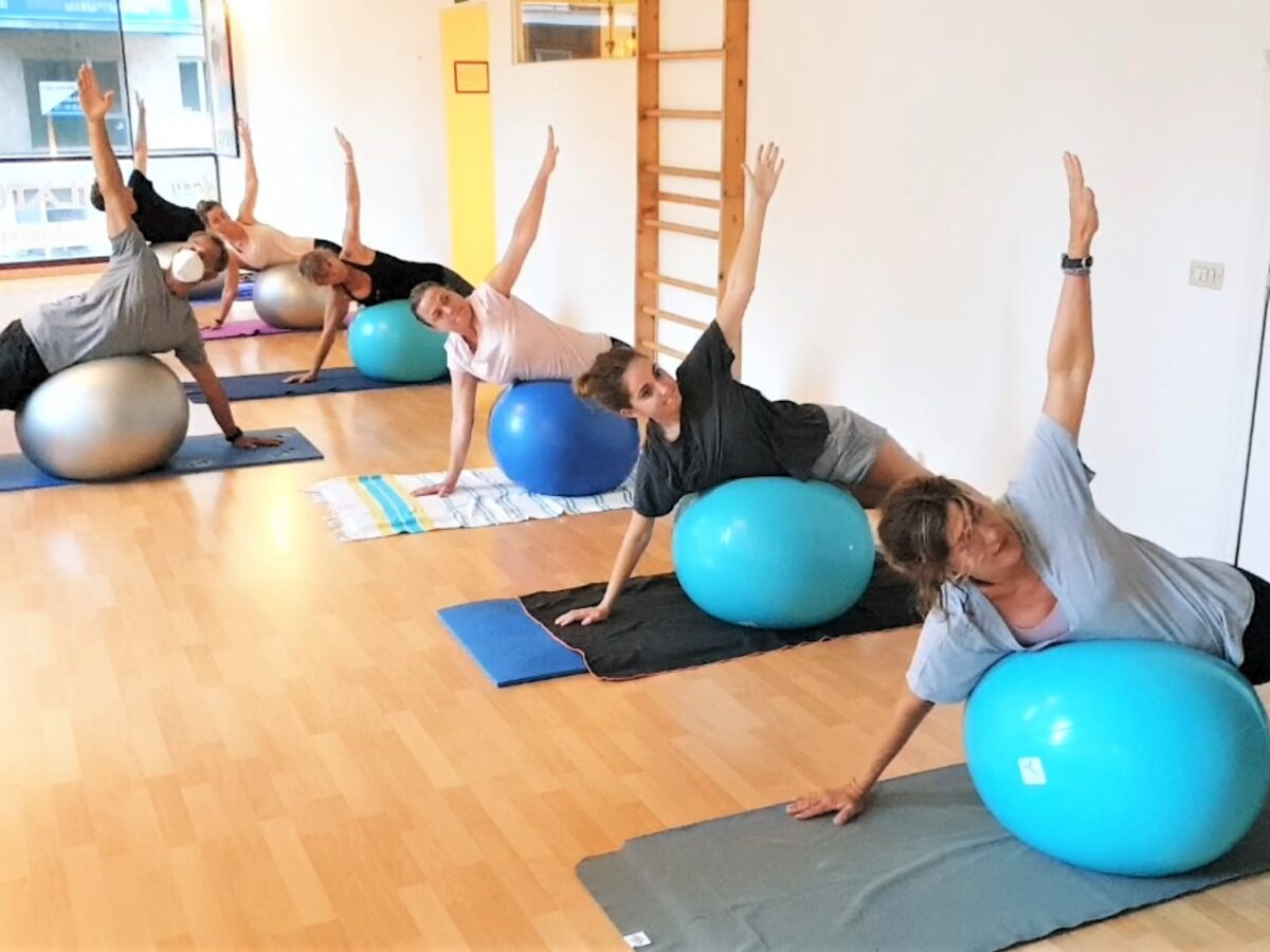 Pilates FitBall. (clase completa)